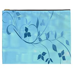 Floral Blue Cosmetic Bag (XXXL)