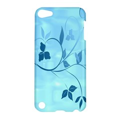 Floral Blue Apple Ipod Touch 5 Hardshell Case