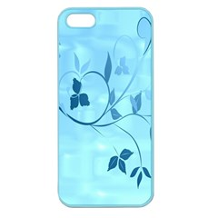 Floral Blue Apple Seamless Iphone 5 Case (color)