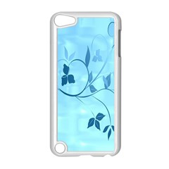 Floral Blue Apple Ipod Touch 5 Case (white)