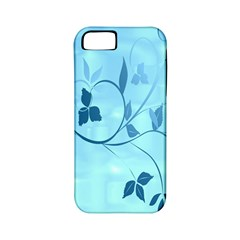Floral Blue Apple iPhone 5 Classic Hardshell Case (PC+Silicone)