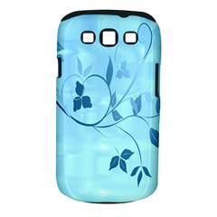 Floral Blue Samsung Galaxy S III Classic Hardshell Case (PC+Silicone)
