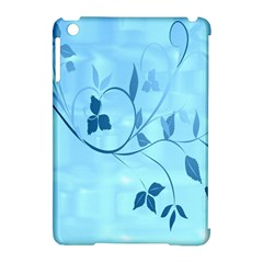 Floral Blue Apple Ipad Mini Hardshell Case (compatible With Smart Cover)