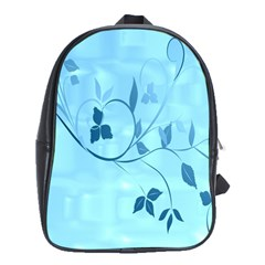 Floral Blue School Bag (XL)