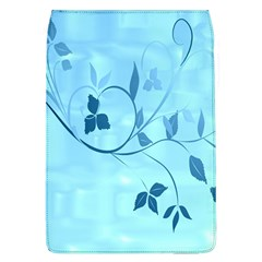 Floral Blue Removable Flap Cover (Large)