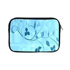 Floral Blue Apple iPad Mini Zippered Sleeve