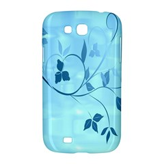 Floral Blue Samsung Galaxy Grand GT-I9128 Hardshell Case