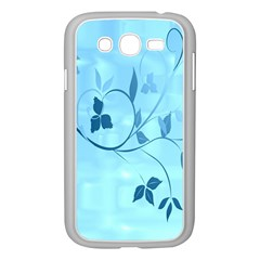 Floral Blue Samsung Galaxy Grand DUOS I9082 Case (White)