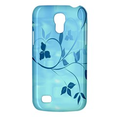 Floral Blue Samsung Galaxy S4 Mini (GT-I9190) Hardshell Case