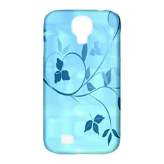 Floral Blue Samsung Galaxy S4 Classic Hardshell Case (PC+Silicone)