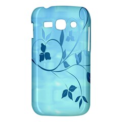 Floral Blue Samsung Galaxy Ace 3 S7272 Hardshell Case