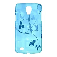 Floral Blue Samsung Galaxy S4 Active (I9295) Hardshell Case
