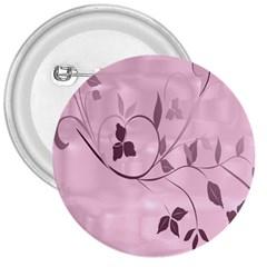 Floral Purple 3  Button
