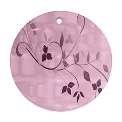 Floral Purple Round Ornament