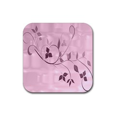 Floral Purple Drink Coaster (square)