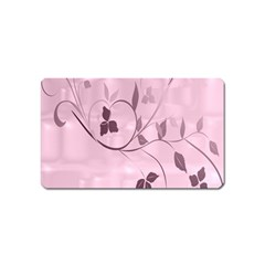 Floral Purple Magnet (Name Card)