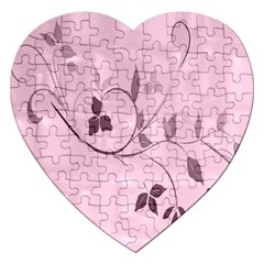 Floral Purple Jigsaw Puzzle (heart)