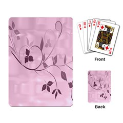 Floral Purple Playing Cards Single Design