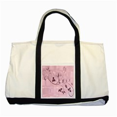 Floral Purple Two Toned Tote Bag