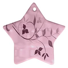 Floral Purple Star Ornament (Two Sides)