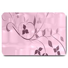 Floral Purple Large Door Mat