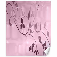 Floral Purple Canvas 11  x 14  (Unframed)