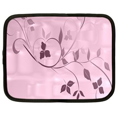 Floral Purple Netbook Sleeve (Large)