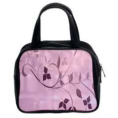 Floral Purple Classic Handbag (Two Sides)
