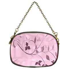 Floral Purple Chain Purse (One Side)