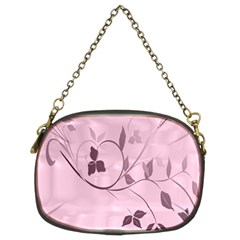 Floral Purple Chain Purse (two Sided)