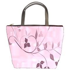Floral Purple Bucket Handbag