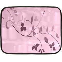 Floral Purple Mini Fleece Blanket (Two Sided)