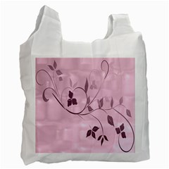 Floral Purple Recycle Bag (One Side)