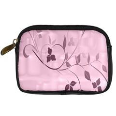 Floral Purple Digital Camera Leather Case