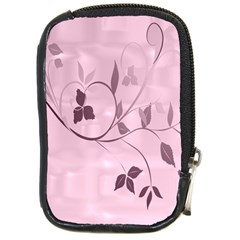 Floral Purple Compact Camera Leather Case