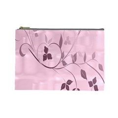 Floral Purple Cosmetic Bag (Large)