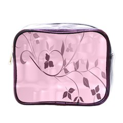 Floral Purple Mini Travel Toiletry Bag (One Side)