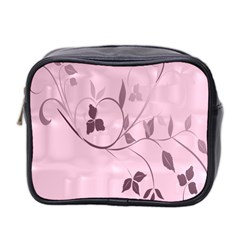 Floral Purple Mini Travel Toiletry Bag (Two Sides)