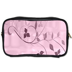 Floral Purple Travel Toiletry Bag (Two Sides)