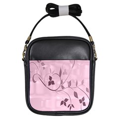 Floral Purple Girl s Sling Bag
