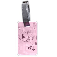 Floral Purple Luggage Tag (Two Sides)