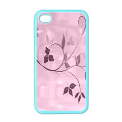 Floral Purple Apple iPhone 4 Case (Color)