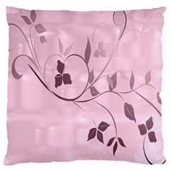 Floral Purple Large Cushion Case (two Sided)