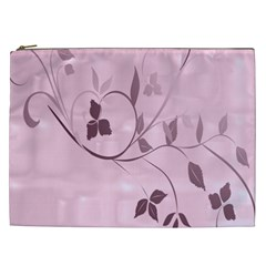 Floral Purple Cosmetic Bag (XXL)
