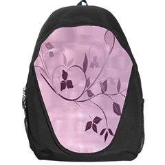 Floral Purple Backpack Bag