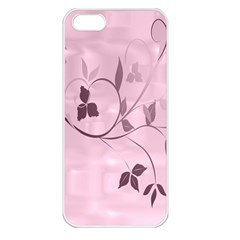 Floral Purple Apple iPhone 5 Seamless Case (White)