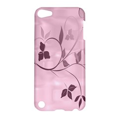 Floral Purple Apple iPod Touch 5 Hardshell Case