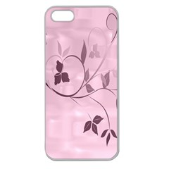 Floral Purple Apple Seamless iPhone 5 Case (Clear)