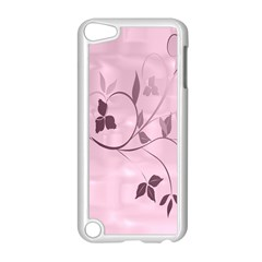 Floral Purple Apple iPod Touch 5 Case (White)