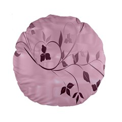 Floral Purple 15  Premium Round Cushion